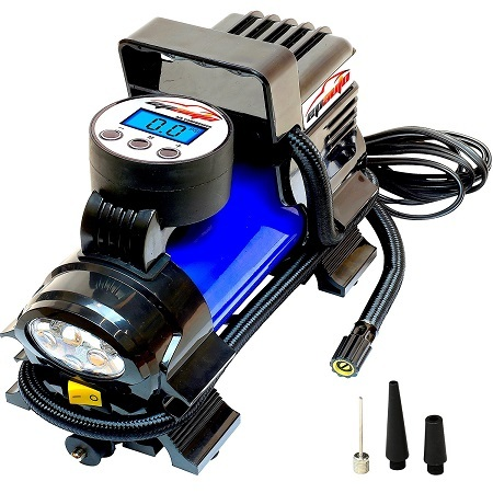 EPAuto 12V DC Portable Air Compressor Pump On White Background